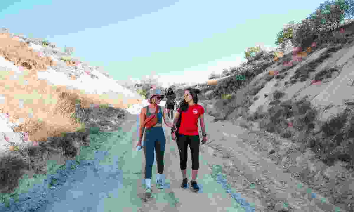 Hike through Cappadocia on Intrepid Travel's Women's expedition in Turkey (Levina Li)