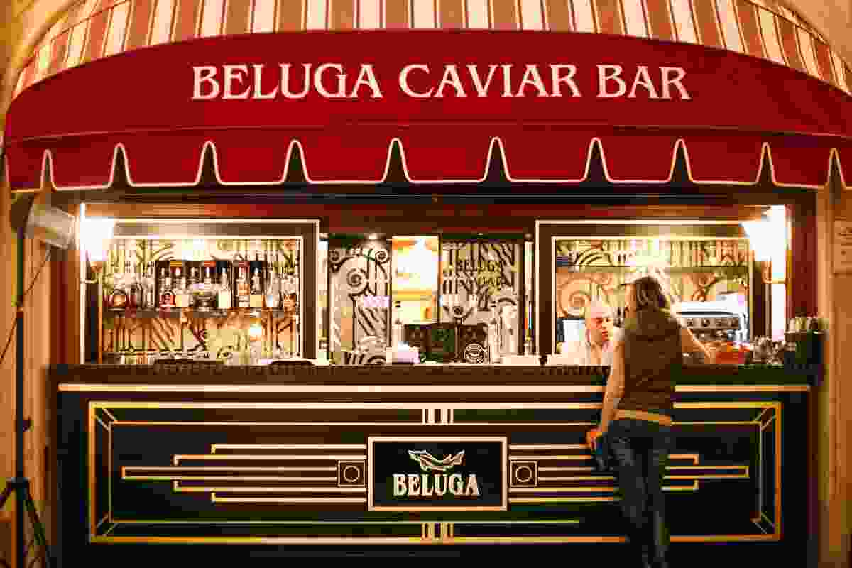 The Beluga Caviar Bar in one of Moscow, Russia's department stores (Shutterstock)