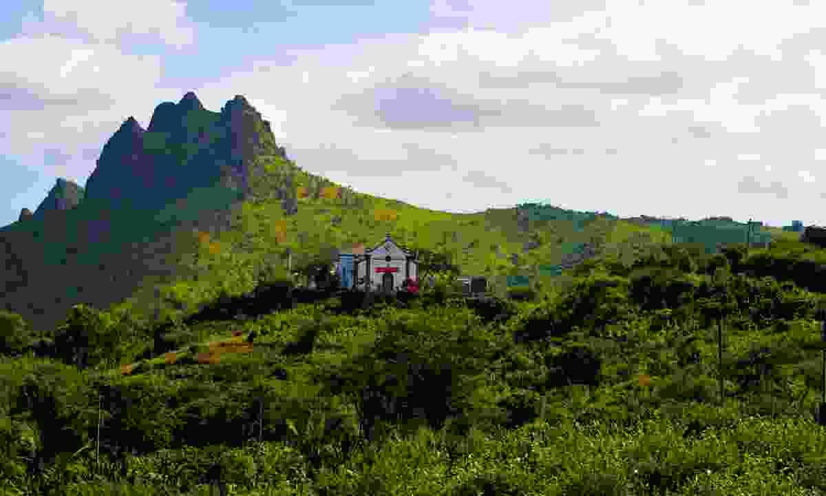 Church high in the hills on Santiago Island (Dreamstime)