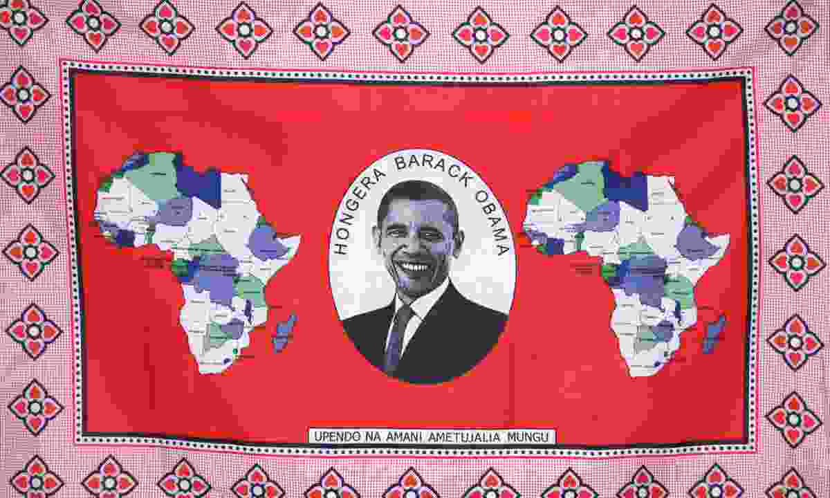 Kanga celebration Obama's inauguration (Dreamstime)