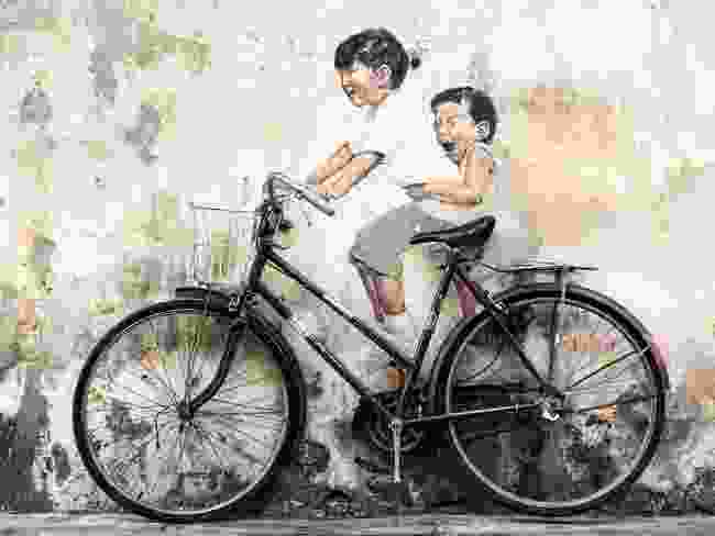 Children on a Bicycle mural, George Town, Malaysia (Shutterstock)