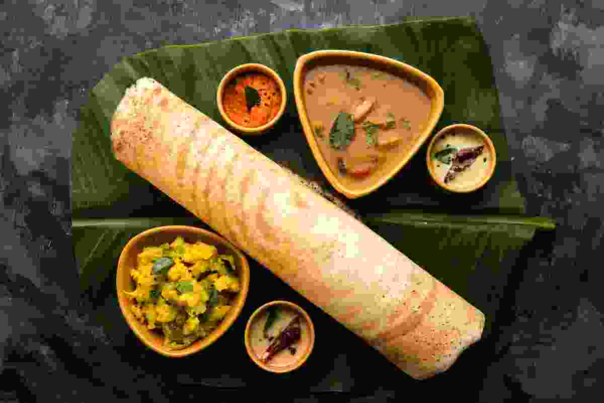 A delicious masala dosa is an ideal meal for vegetarians visiting India (Shutterstock)