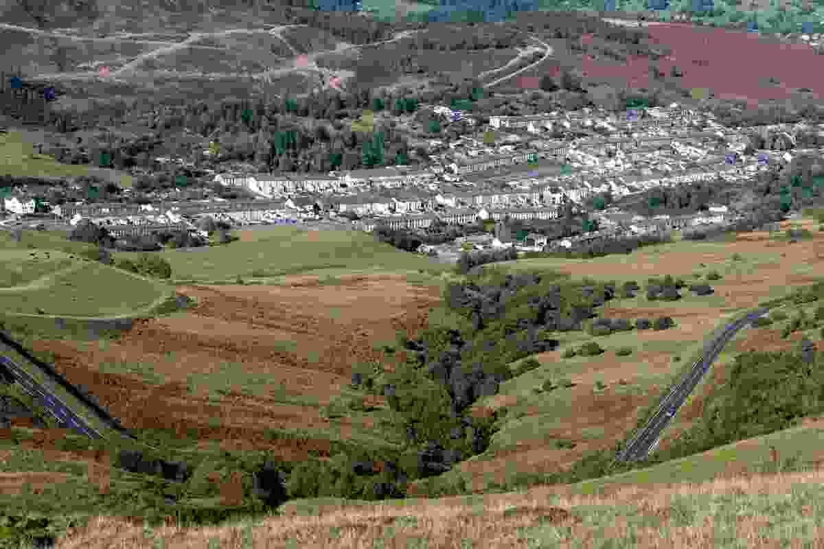 Rhondda Valley, Wales, looking over the towns of Cwm Parc and Treorchy (Shutterstock)
