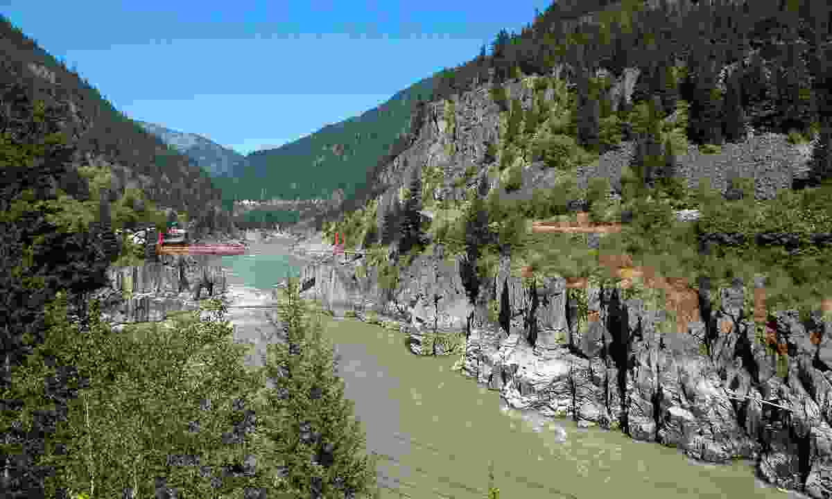 Hell's Gate is the deepest, narrowest part of Fraser River (Shutterstock)