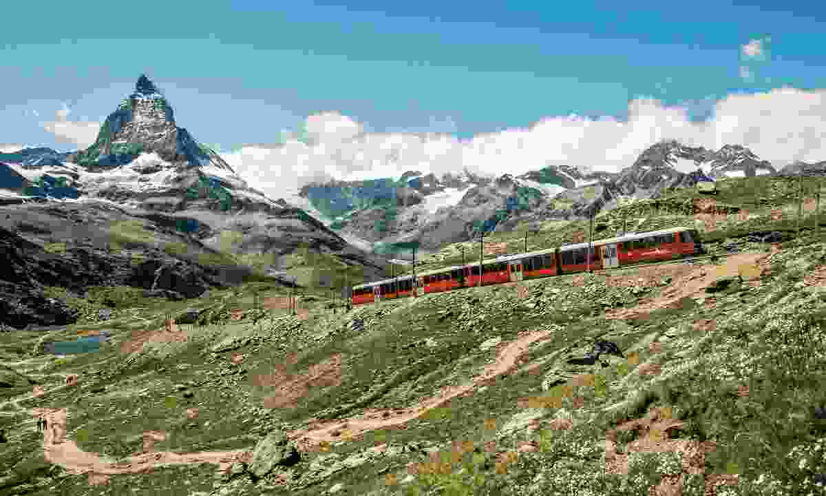 Many places in Switzerland such as Zermatt can only be accessed by train (swiss-image.ch)