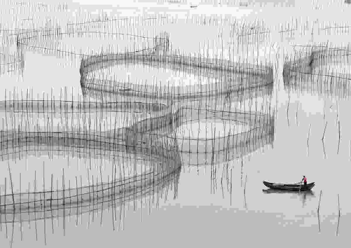 Fisherman and nets, Xiapu, Fujian Province, China (Alex Harford)
