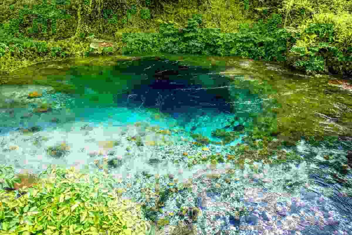 Albania's Blue Eye spring is a natural wonder, and national landmark (Shutterstock)