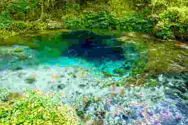 Albania's Blue Eye spring is a natural wonder, and national landmark (Shutterstock)