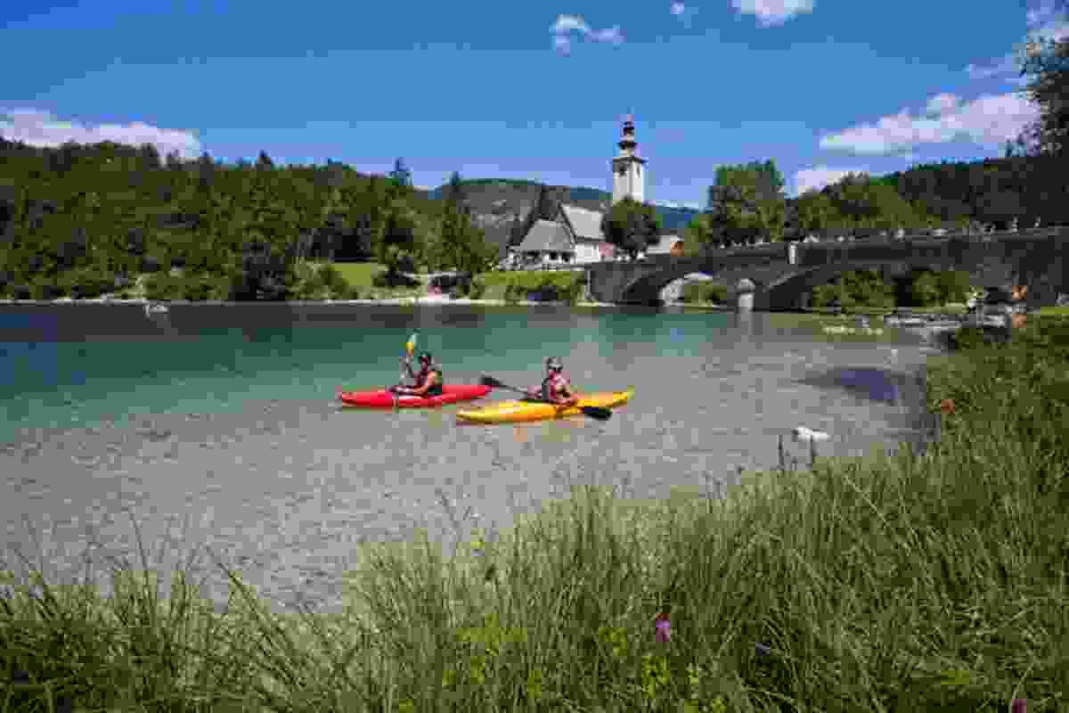 Kayaking on Bohinj Lake (Slovenian Tourist Board)