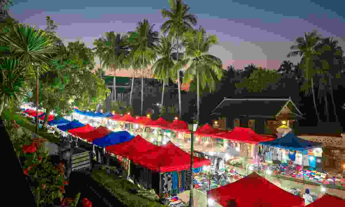 Night market in Luang Prabang (Dreamstime)