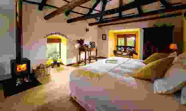 A deluxe room inside the luxurious hotel (Hacienda Zuleta)