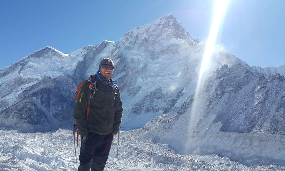 Dinesh KC in Nepal (Intrepid Travel)