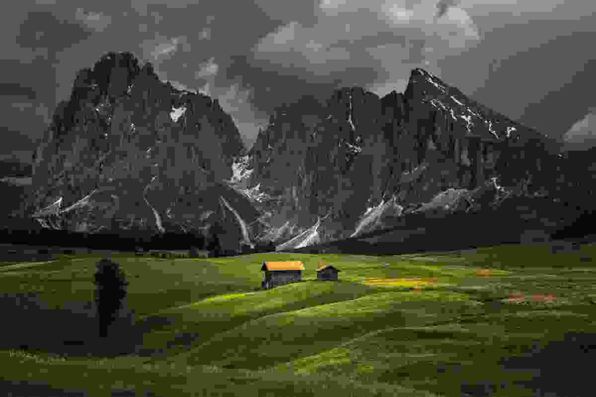 An afternoon storm in the Alpe di Siusi (James Rushforth)