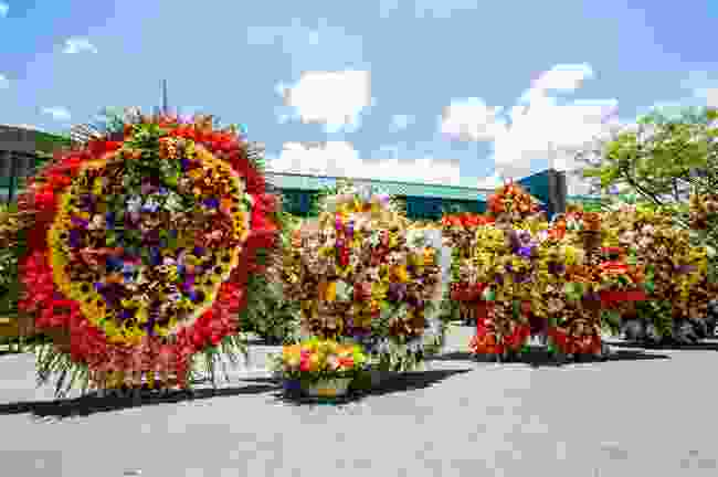 Floral displays during Medellin's famed flower festival (Shutterstock)