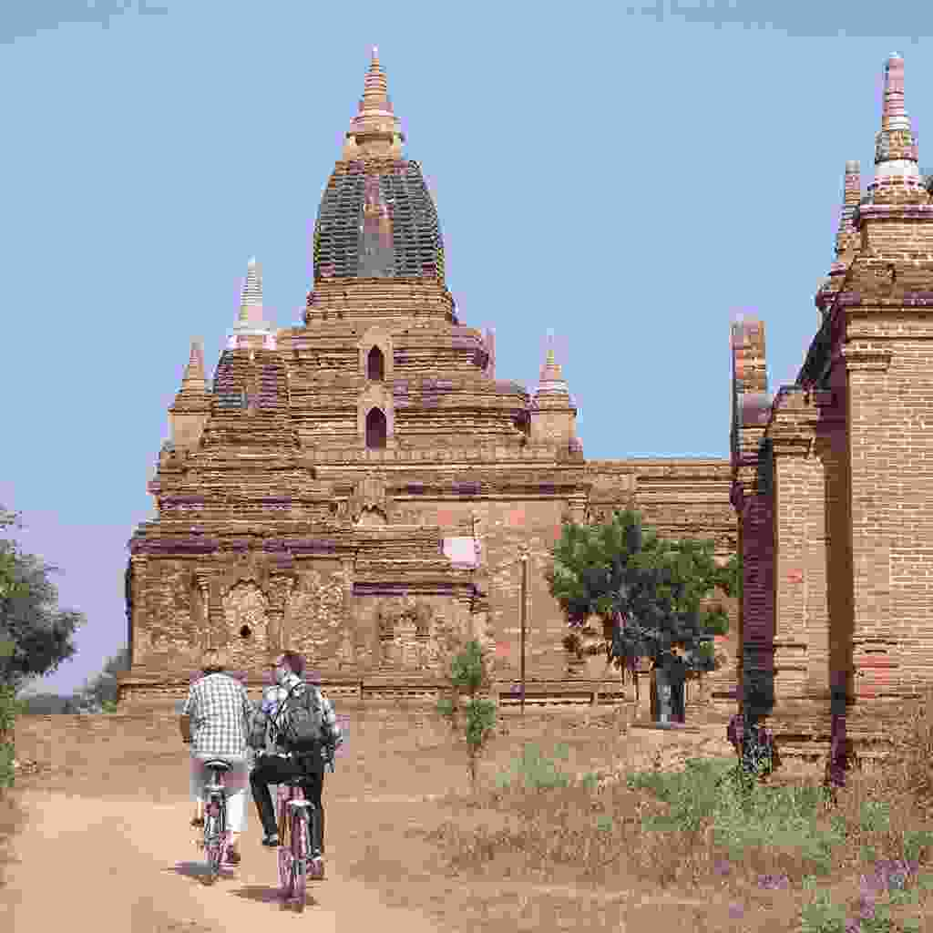 Explore Bagan by bike (Rickshaw Travel)