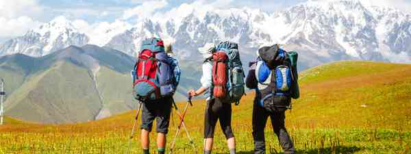 A small group of travellers. (Dreamstime)