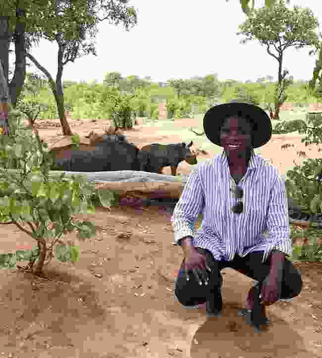 On safari in Zambia. (Jessica Nabongo)