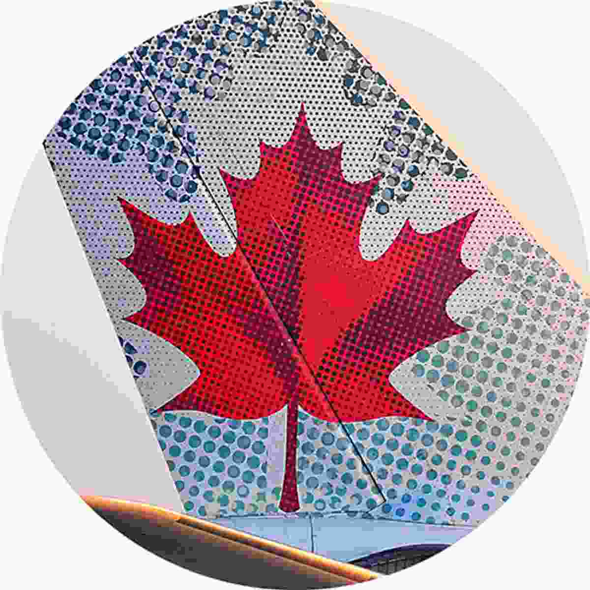 The iconic maple leaf of Air Canada (Shutterstock)