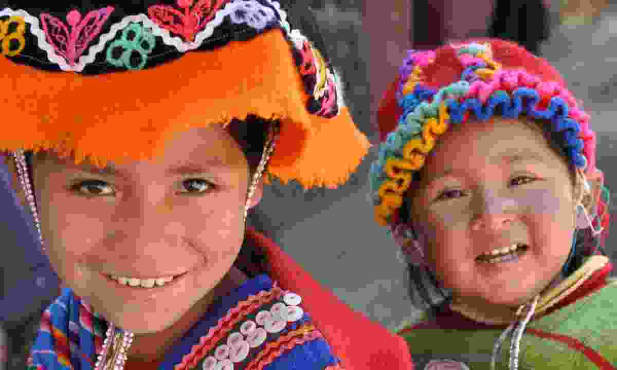 Children in Peruvian village (Dreamstime)