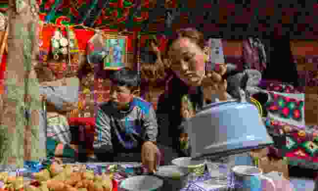 Time to eat in Mongolia (Dreamstime)