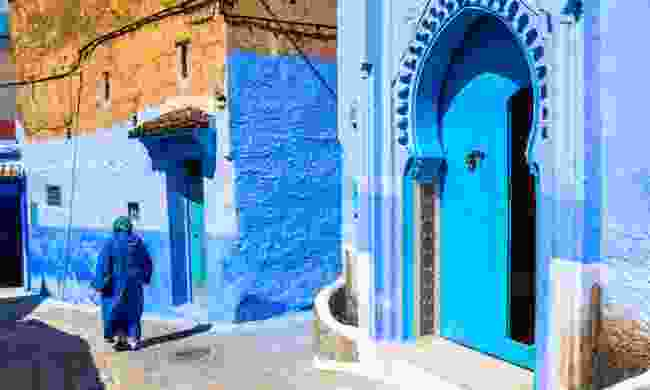 Blue door in Chefchaouen (Dreamstime)