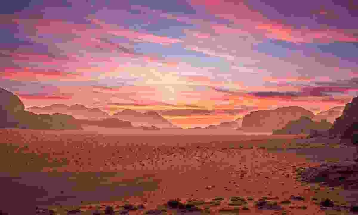 Sunrise in Wadi Rum (Dreamstime)