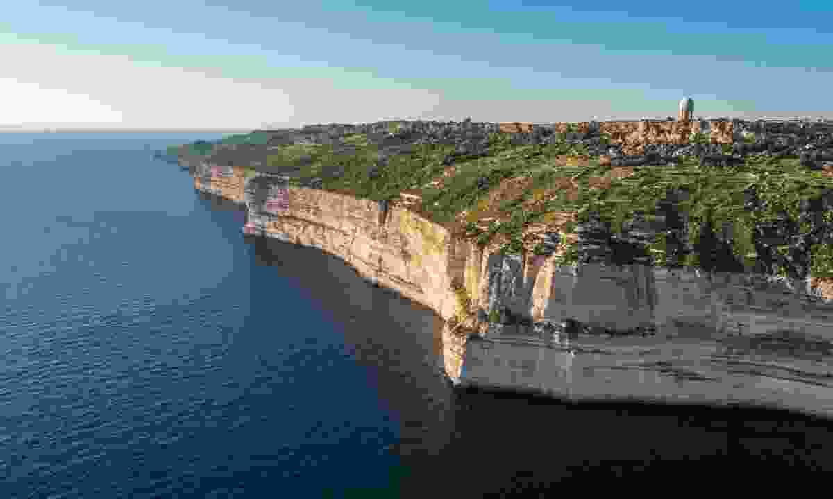 Aerial view of Dingli's cliffs