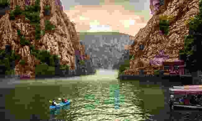 Kayaking Matka Canyon (Shutterstock)
