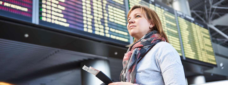 Woman at airport (Dreamstime)