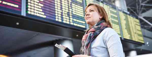 Woman at airport (Dreamstime)