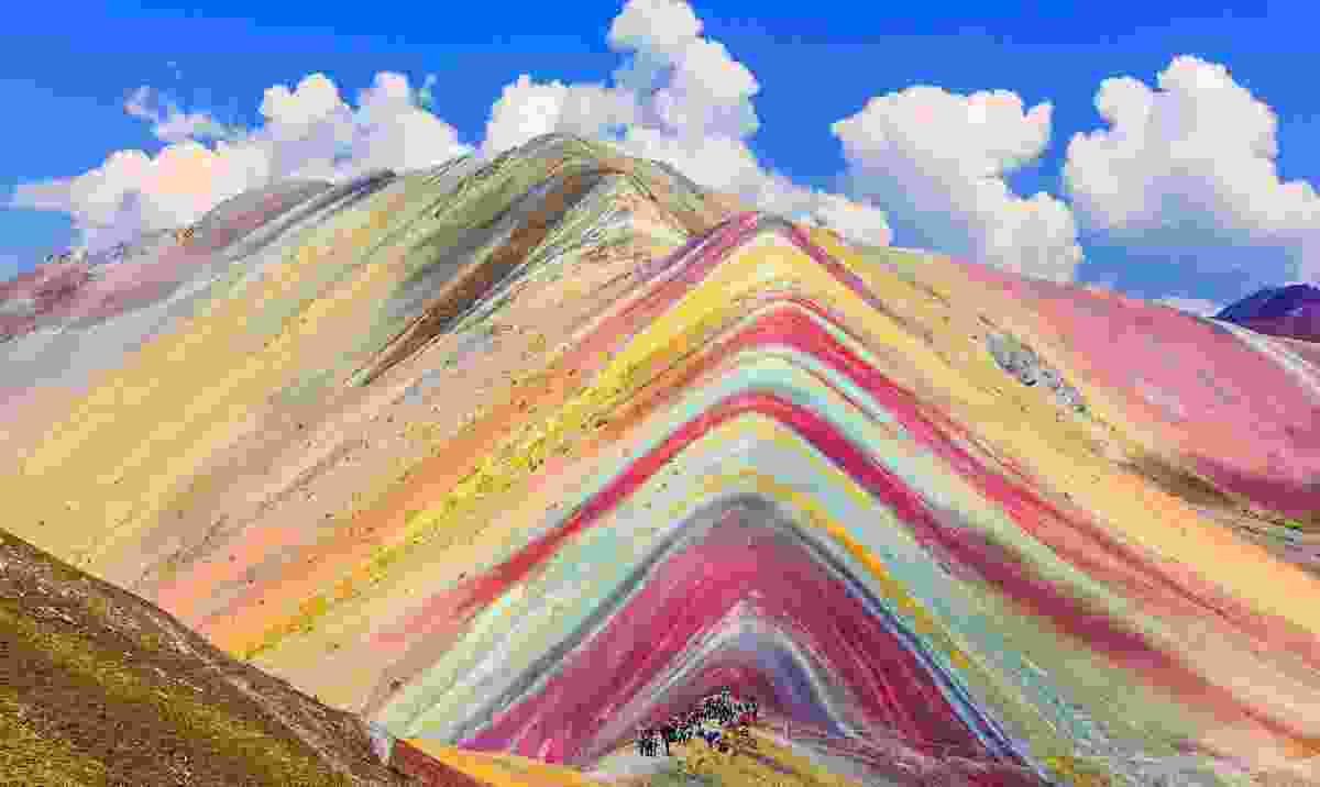The multi-coloured Rainbow Mountain (Dreamstime)