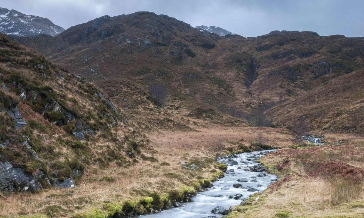 The Highland landscape above Kinloch Hourn (Dreamstime)