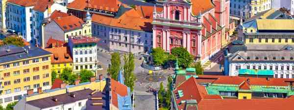 One of Slovenia's most recognisable sights, Presern Square in Ljubljana (Shutterstock)