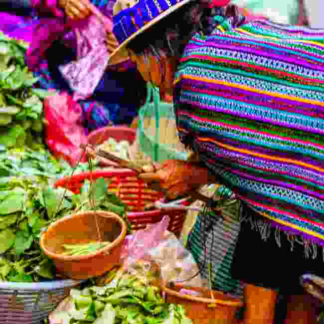 Chichicastenango stall holder (Shutterstock)