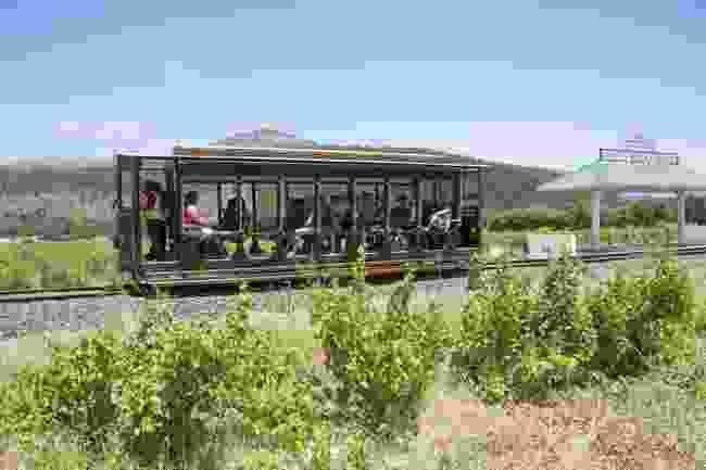 Hop aboard a wine tram in Franschhoek, South Africa (Shutterstock)