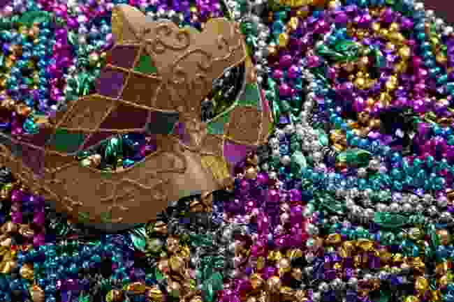 Mardis Gras beads and masks (Shutterstock)