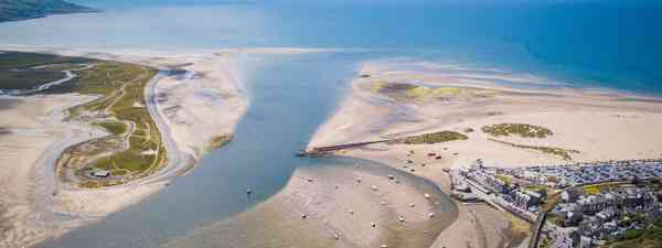 An aerial view of Mawddach Estuary (Shutterstock)