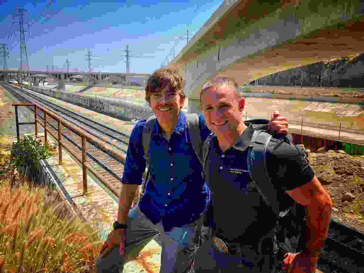 With Los Angeles street doctor Brett Feldman in California (BBC)