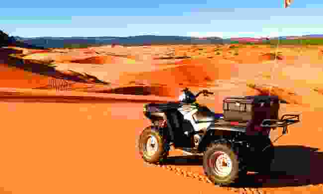 Explore the Coral Pink Sand Dunes in an ATV (Tyler Cornell/KCOT)