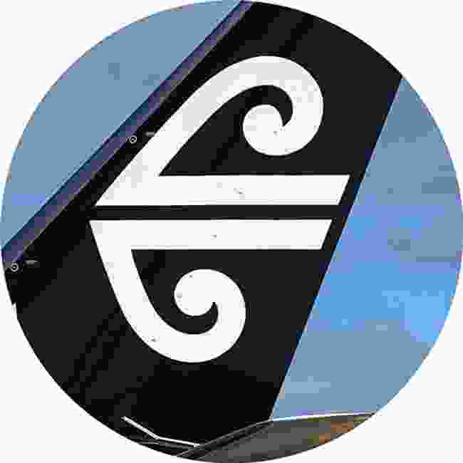 The stylised unfurling fern frond of Air New Zealand (Shutterstock)
