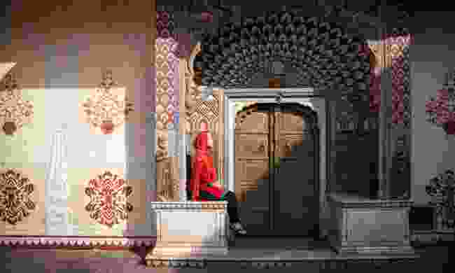 Lotus gate in City Palace of Jaipur (Dreamstime)