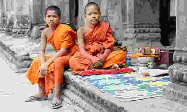 Young monks at Angkor Was (Dreamstime)