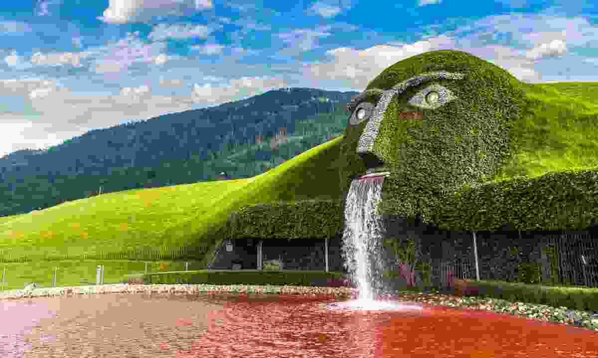 Fountain at the Swarovski Crystal Worlds (Kristallwelten) museum (Shutterstock)