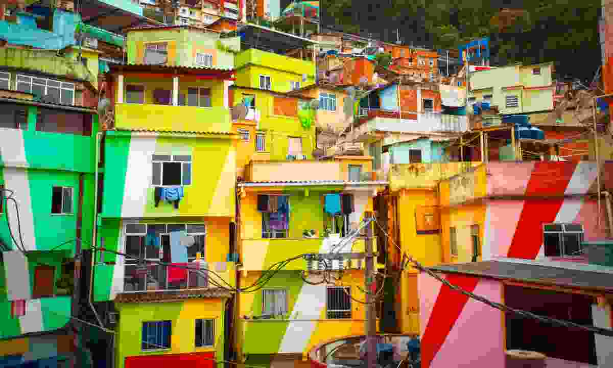 Colourfully painted buildings in Rio's Santa Marta favela  (Shutterstock)