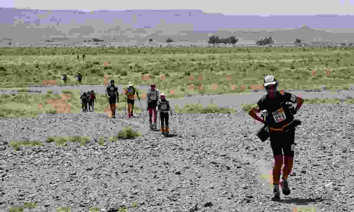 Running the Marathon des Sables in Morocco in aid of Marie Curie (Adventure Travel Show)