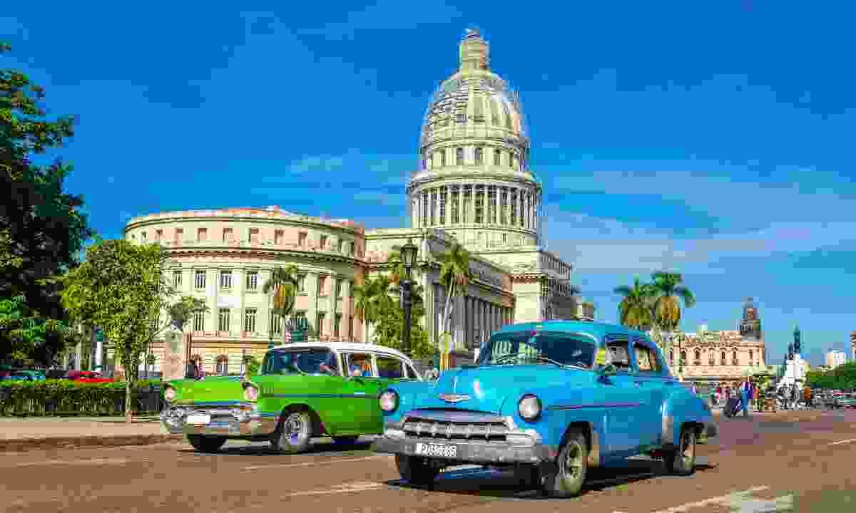Classic cars in Havana, Cuba (Dreamstime)