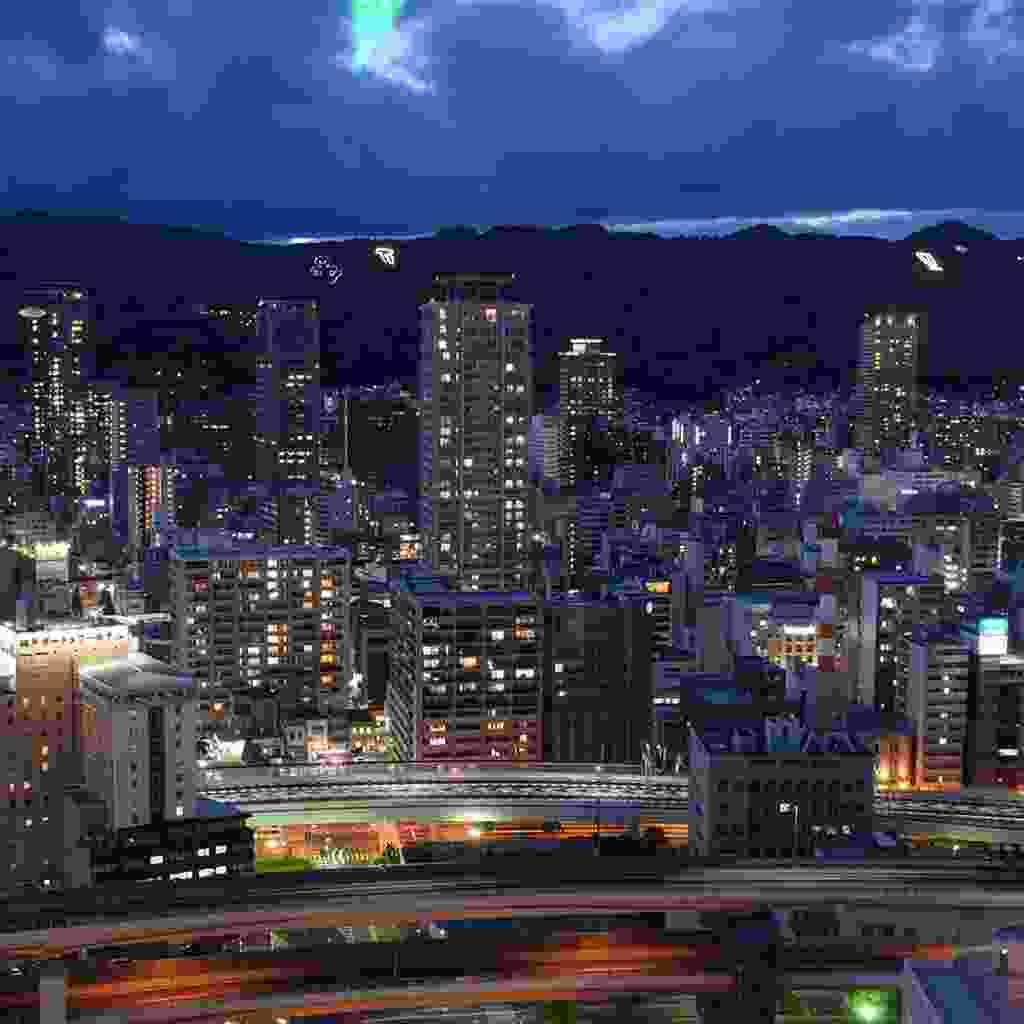 Kobe's skyline at night