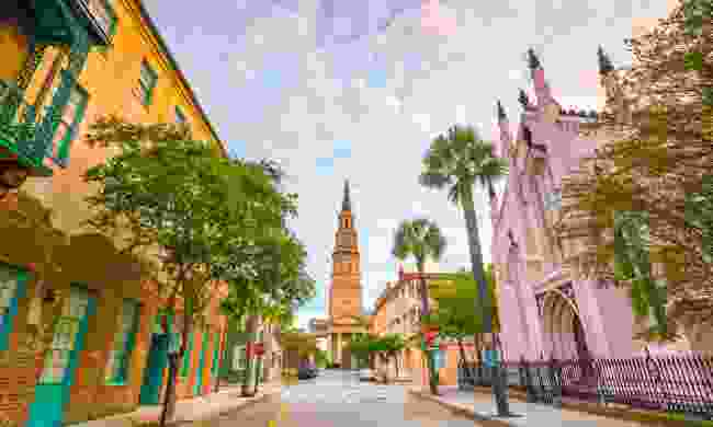 The pastel-couloured historical houses in Charleston (Shutterstock)