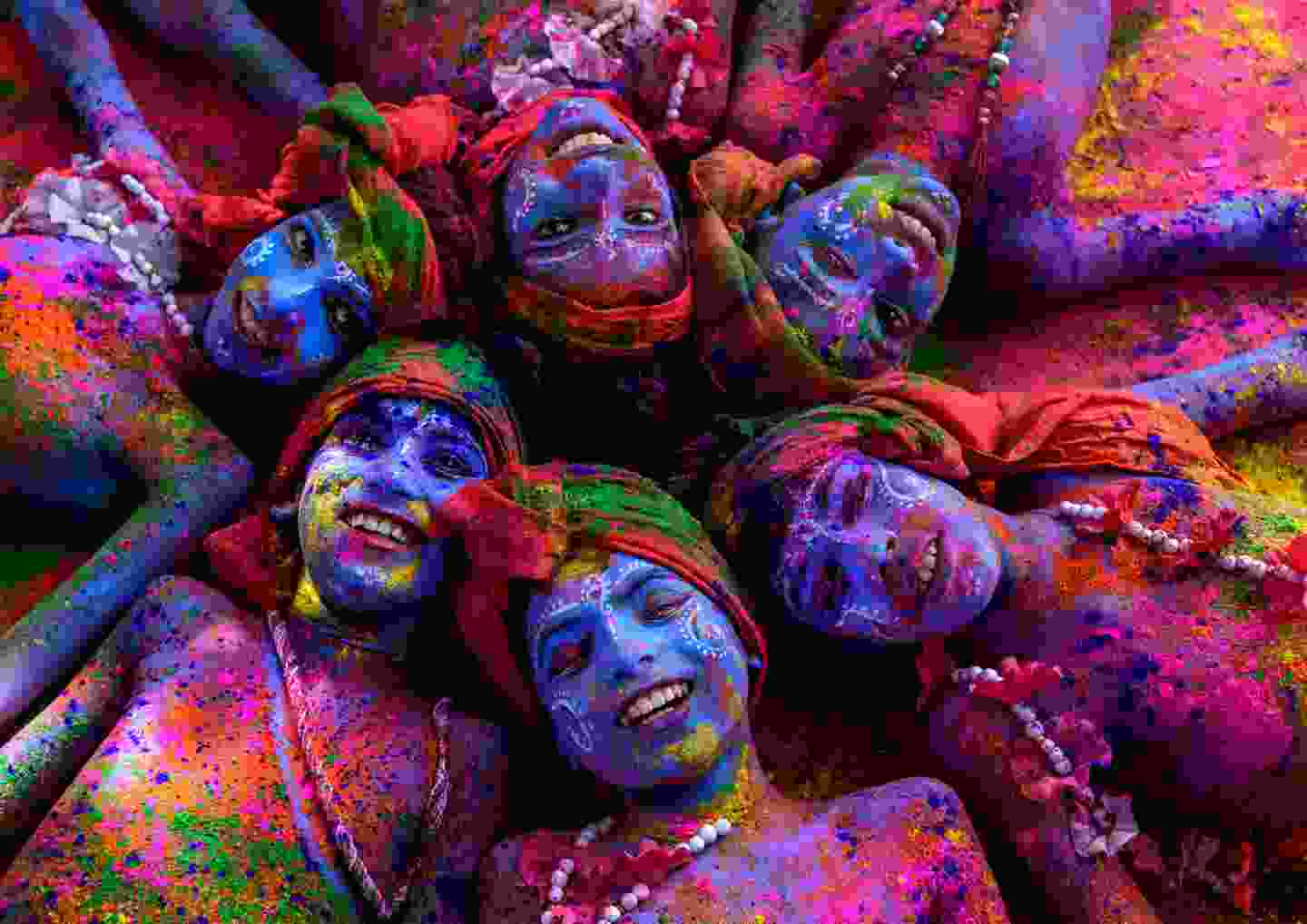 Krishnas with colours, Uttar Pradesh, India (Sanghamitra Sarkar)