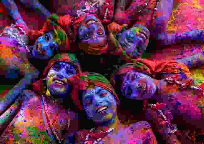 Krishnas with colours, Uttar Pradesh, India (Sanghamitra Sarkar)
